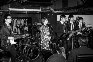 band performing at the orange peel lounge.